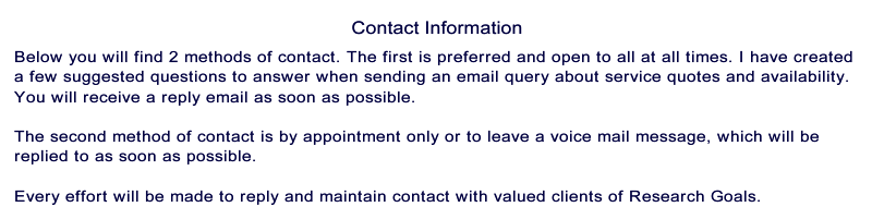 contact statement